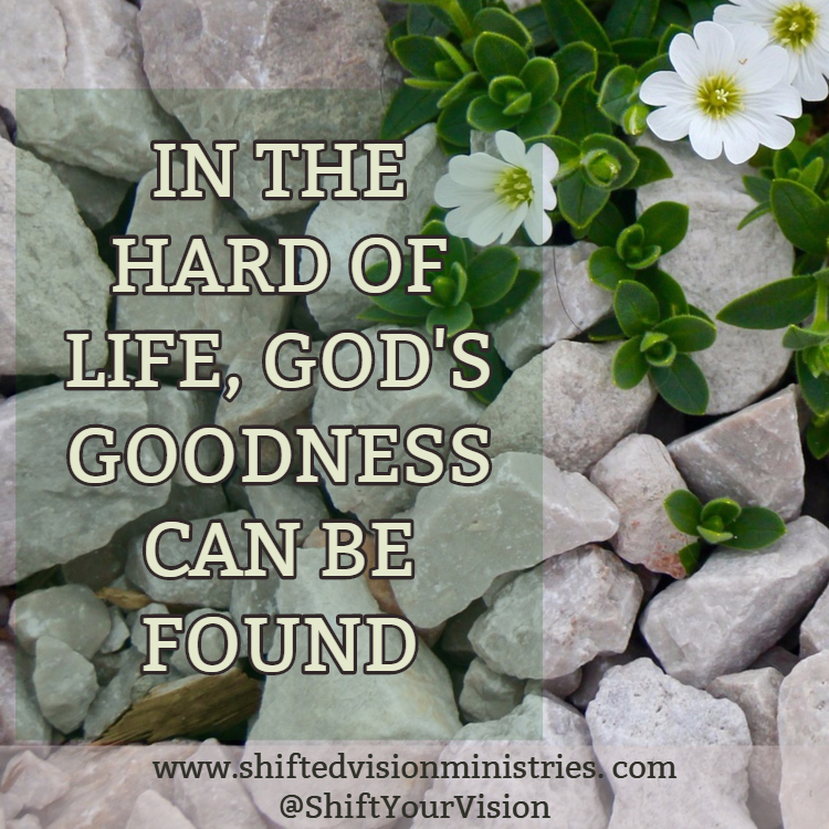 In the HARD of life, God's Goodness can be Found